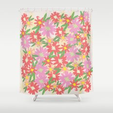 floral party Shower Curtain