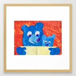Read to me Framed Art Print