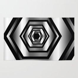 hexagon metallic art- digital realism Rug