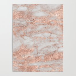 Martino rose gold marble Poster