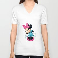 minnie mouse V-neck T-shirts featuring Minnie Mouse Cartoon by Maxvision