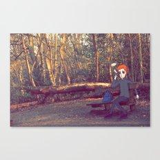 Smoking Bench Canvas Print