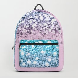 Sparkly Unicorn Blue Lilac & Pink Ombre Backpack