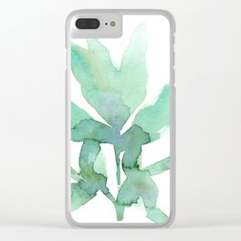 peony leaf Clear iPhone Case