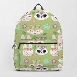 Woodland Animals Green Forest Backpack