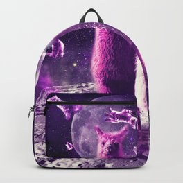 Outer Space Galaxy Cat With Llama Backpack