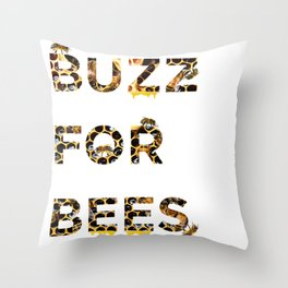 Buzz for Bees Throw Pillow