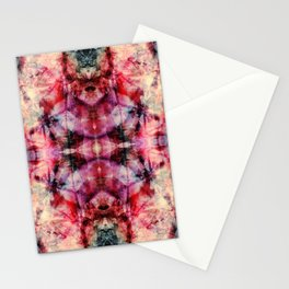 Colorful Abstract Batik Butterfly Rorschach Ink Blot Art Space Galaxy No6 Stationery Cards