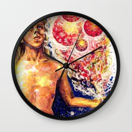Time Has Come I Take Integral Birth Wall Clock