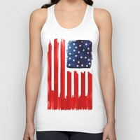 buildings Tank Tops featuring stars and buildings by Robert Farkas
