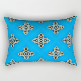 Beautiful Blue Beadwork Inspired Fashion Print Rectangular Pillow