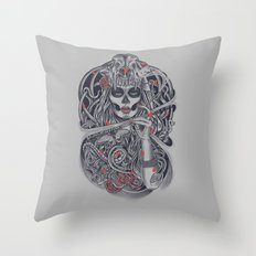 Madame Death Throw Pillow