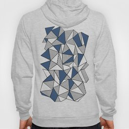 Abstraction Lines with Navy Blocks Hoody