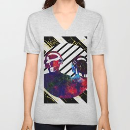 Daft Punk Art Unisex V-Neck