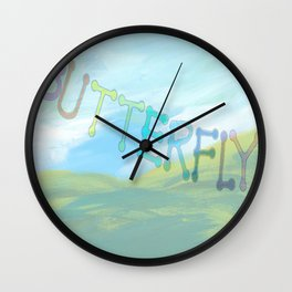 """"""" Butterfly In The Clearing """" Wall Clock"""