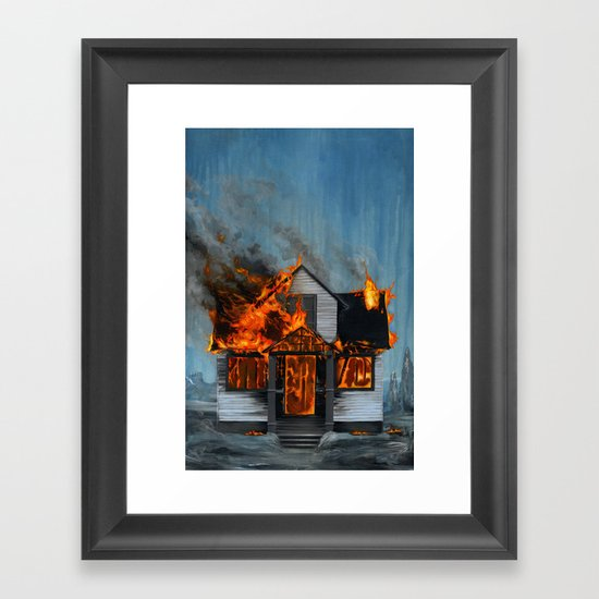 House on Fire Framed Art Print