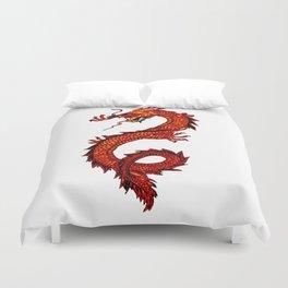 Mythical Red Dragon Duvet Cover