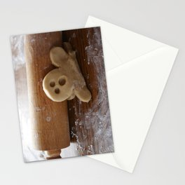 Ginger bread man and rolling pin Stationery Cards