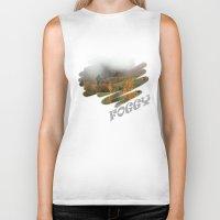 fog Biker Tanks featuring FOG by Avigur