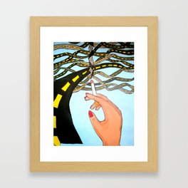 Paths of Destruction Framed Art Print