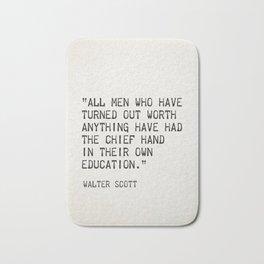Walter Scott quote Bath Mat