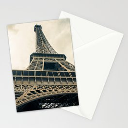 France Photography - The Eiffel Tower Under The Gray Sky Stationery Cards