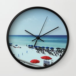 Day at the beach serie #2 Wall Clock