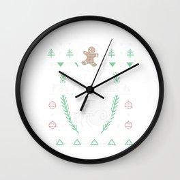 Pet Hermit Crab Christmas Ugly Shirt Wall Clock