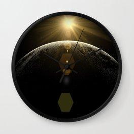moon lens flare Wall Clock
