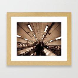 Underground. Framed Art Print