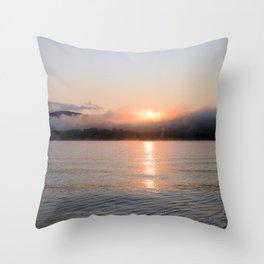 Reborn: Sunrise on Lake George Throw Pillow