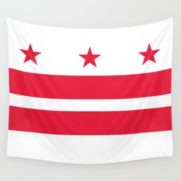 Flag of the District of Columbia - Washington D.C authentic version Wall Tapestry