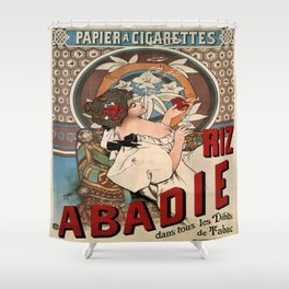 Vintage poster - Abadie Cigarettes Shower Curtain