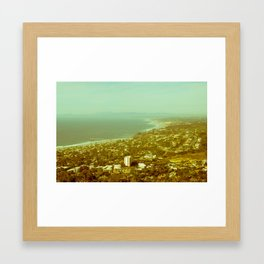 Retro Cali Coastline Framed Art Print