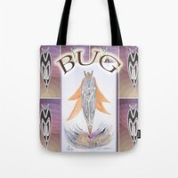 bug Tote Bags featuring BUG by CrismanArt