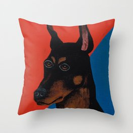 Doberman Pinscher Don Throw Pillow