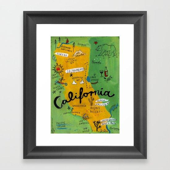 Postcard from California Framed Art Print
