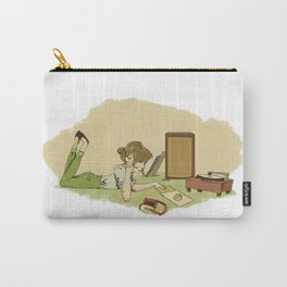 Record Player Girl Carry-All Pouch