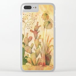 For the Love of Cactus Clear iPhone Case
