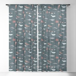 Ocean Life Sheer Curtain