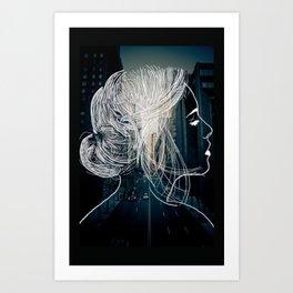 The woman who never sleep Art Print