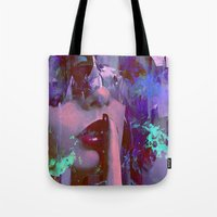 silent Tote Bags featuring Keep silent by Ganech joe