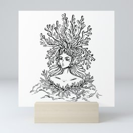Algae Haired Woman T Shirt Mini Art Print