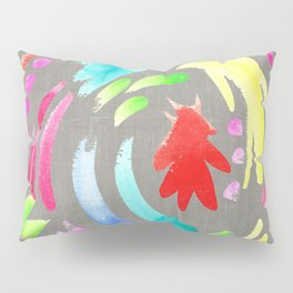 brushstrokes Pillow Sham