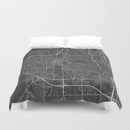Ann Arbor Map, USA - Gray Duvet Cover