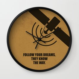 Lab No. 4 -Follow Your Dreams, They Know The Way Corporate Startup Quotes poster Wall Clock