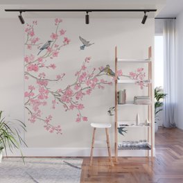 Birds and cherry blossoms Wall Mural