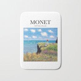 Monet - Cliff Walk at Pourville Bath Mat