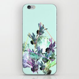 Neon Flowers - Charlotte Blue iPhone Skin