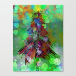 Abstract Christmas Tree - color variation Canvas Print
